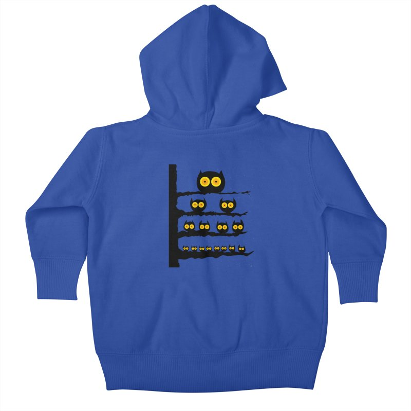Night Owls Kids Baby Zip-Up Hoody by jeffisawesome's Artist Shop