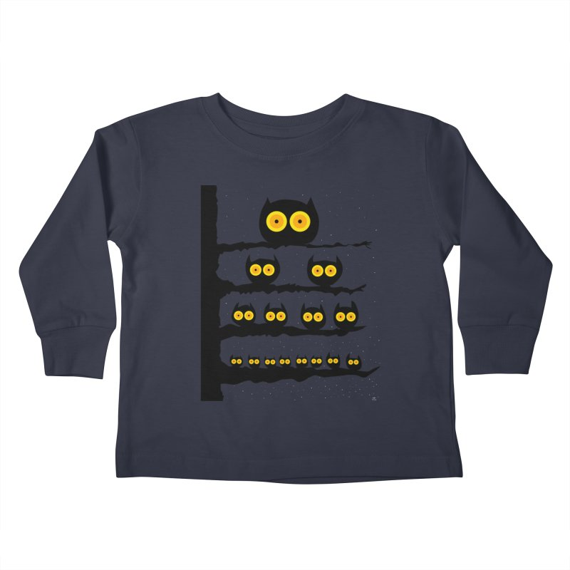 Night Owls Kids Toddler Longsleeve T-Shirt by jeffisawesome's Artist Shop