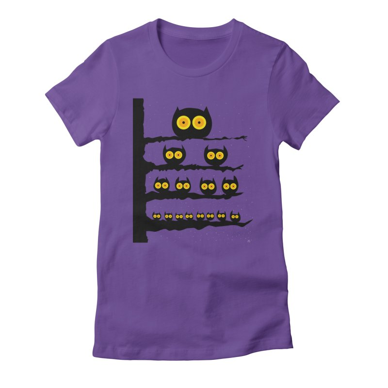 Night Owls Women's Fitted T-Shirt by jeffisawesome's Artist Shop