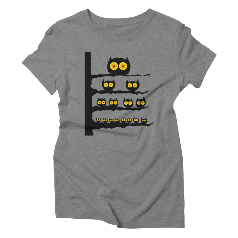 Night Owls Women's Triblend T-Shirt by jeffisawesome's Artist Shop