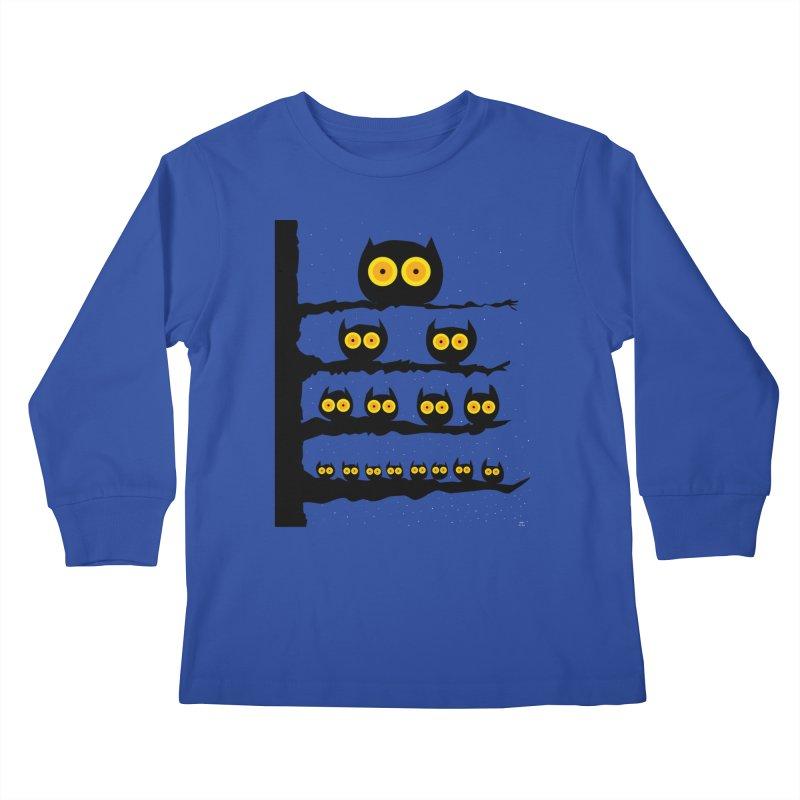 Night Owls Kids Longsleeve T-Shirt by jeffisawesome's Artist Shop