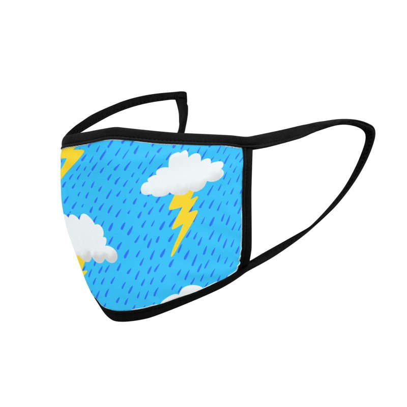 Rainy Day - Cartoon-Style Face Mask Accessories Face Mask by jeffisawesome's Artist Shop