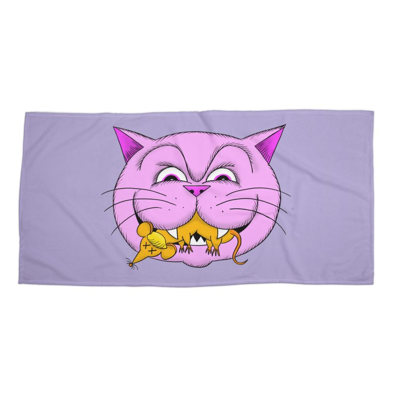 A Game of Pussy and Mouse Accessories Beach Towel by jeffisawesome's Artist Shop