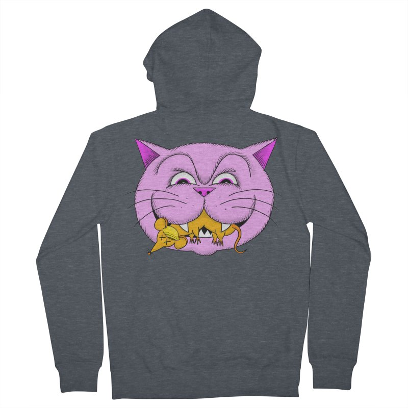 A Game of Pussy and Mouse Men's French Terry Zip-Up Hoody by jeffisawesome's Artist Shop