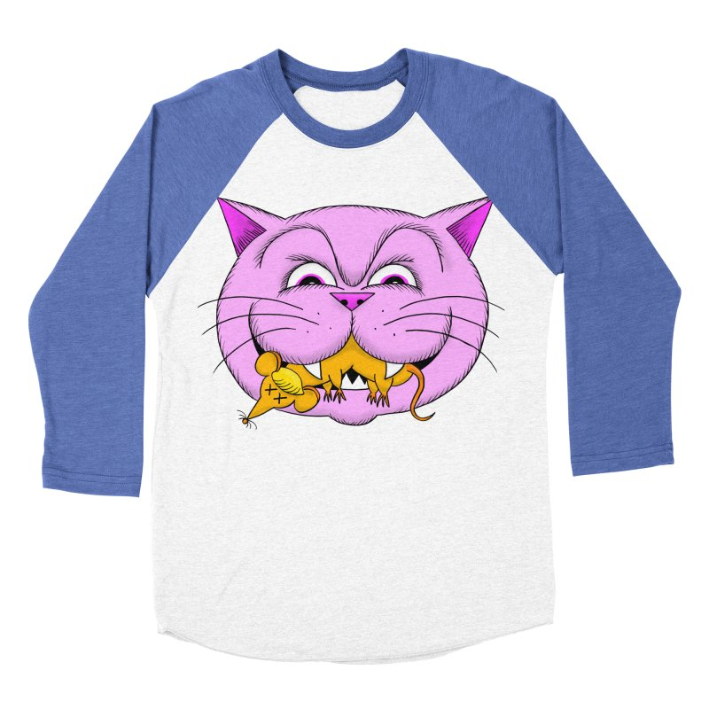 A Game of Pussy and Mouse Women's Baseball Triblend Longsleeve T-Shirt by jeffisawesome's Artist Shop