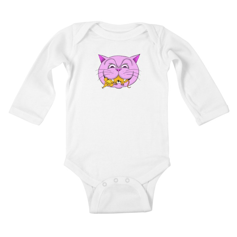 A Game of Pussy and Mouse Kids Baby Longsleeve Bodysuit by jeffisawesome's Artist Shop