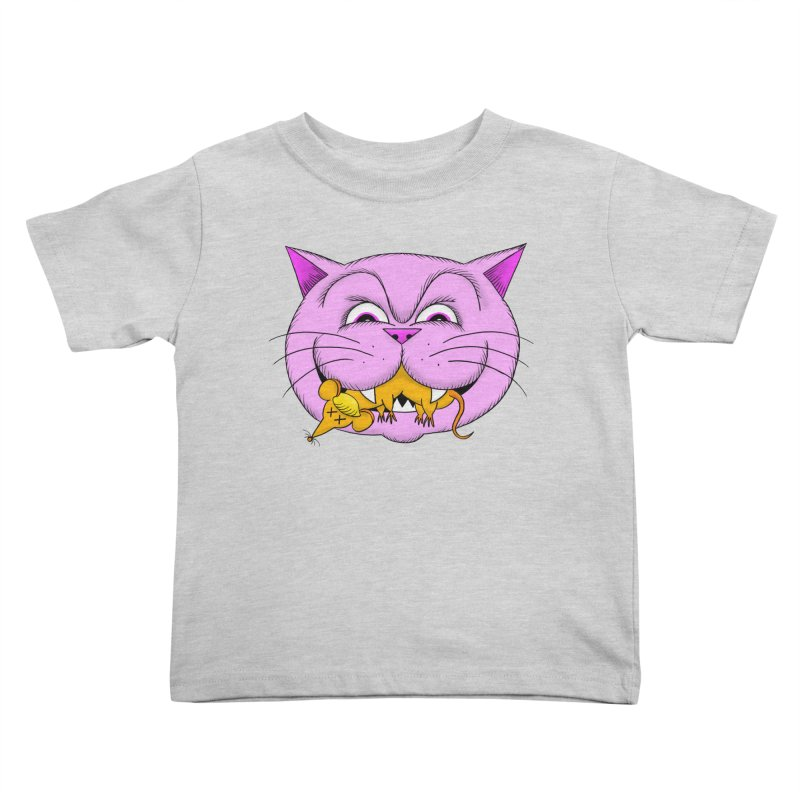 A Game of Pussy and Mouse Kids Toddler T-Shirt by jeffisawesome's Artist Shop