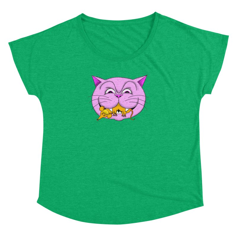 A Game of Pussy and Mouse Women's Dolman Scoop Neck by jeffisawesome's Artist Shop