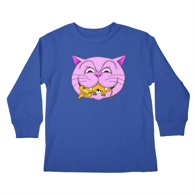 A Game of Pussy and Mouse Kids Longsleeve T-Shirt by jeffisawesome's Artist Shop