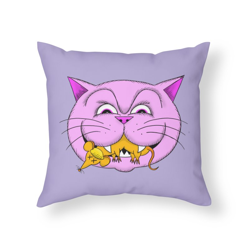 A Game of Pussy and Mouse Home Throw Pillow by jeffisawesome's Artist Shop