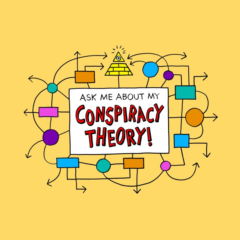 Ask Me About My Conspiracy Theory! Men's V-Neck by jeffisawesome's Artist Shop