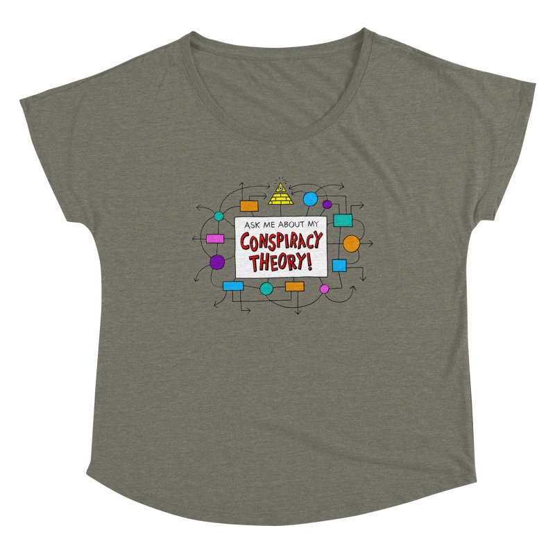 Ask Me About My Conspiracy Theory! Women's Dolman Scoop Neck by jeffisawesome's Artist Shop