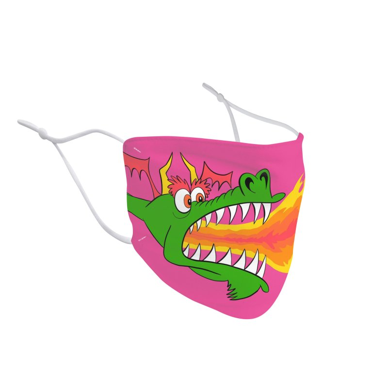 Dragon Fire - Cartoon-Style Face Mask Accessories Face Mask by jeffisawesome's Artist Shop