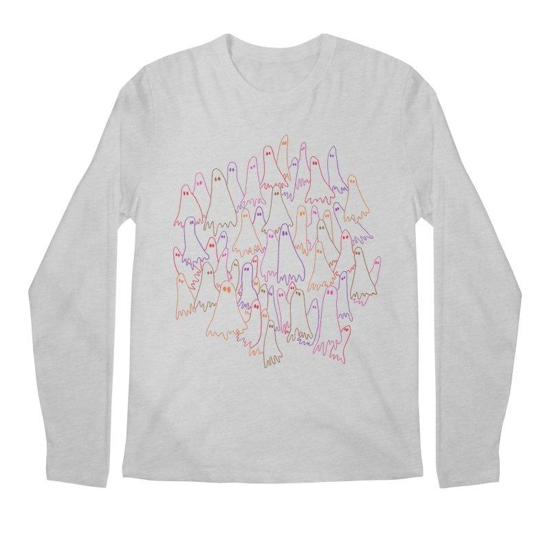 Ghost Medley - Light Men's Longsleeve T-Shirt by jeffisawesome's Artist Shop
