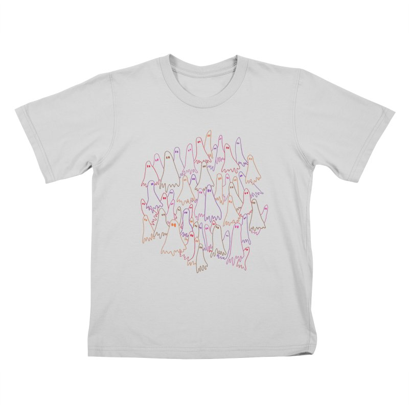 Ghost Medley - Light Kids T-Shirt by jeffisawesome's Artist Shop
