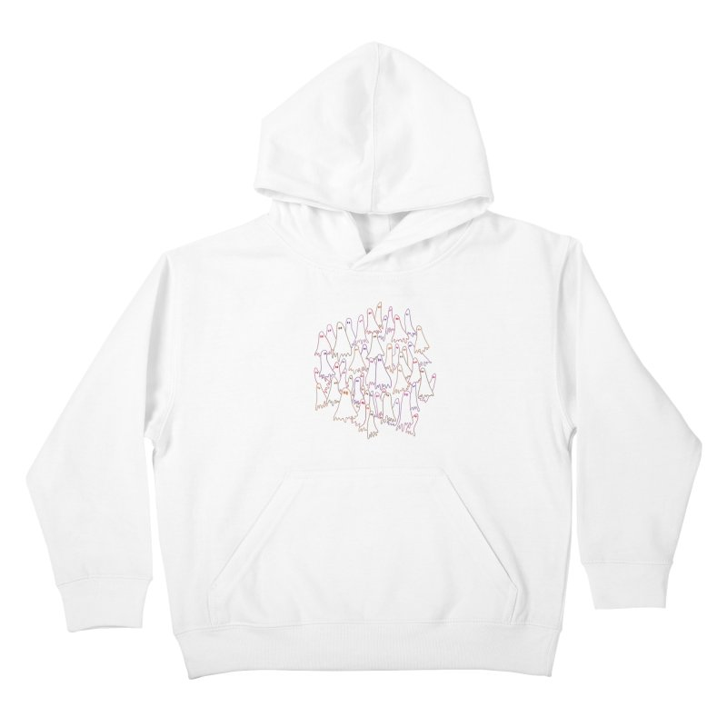 Ghost Medley - Light Kids Pullover Hoody by jeffisawesome's Artist Shop