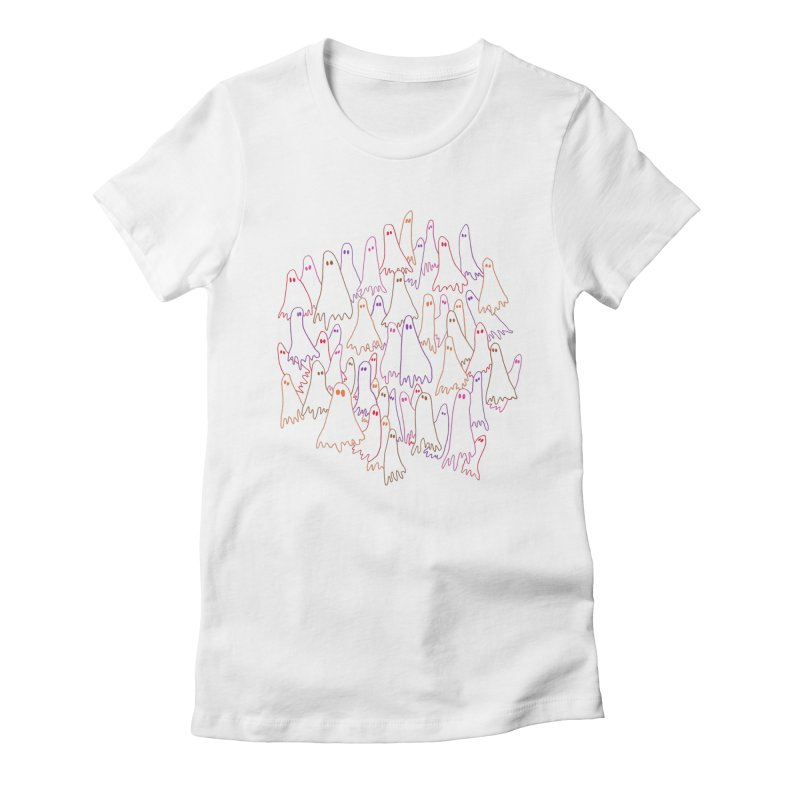 Ghost Medley - Light Women's Fitted T-Shirt by jeffisawesome's Artist Shop