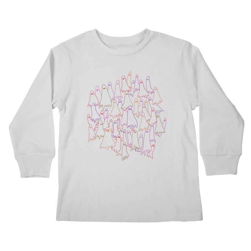 Ghost Medley - Light Kids Longsleeve T-Shirt by jeffisawesome's Artist Shop