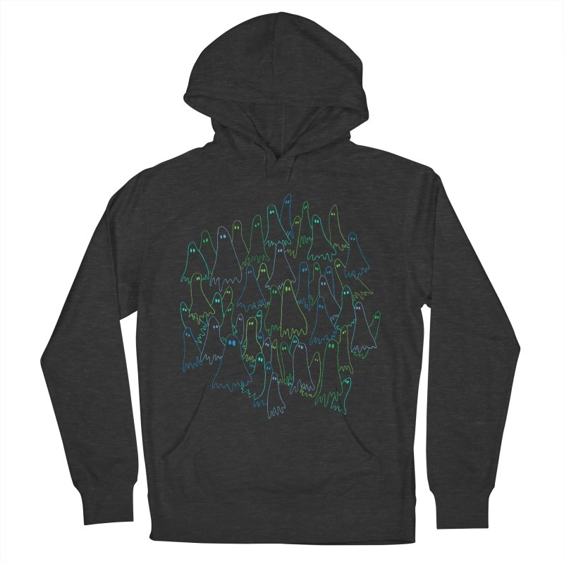 Ghost Medley - Dark Men's French Terry Pullover Hoody by jeffisawesome's Artist Shop