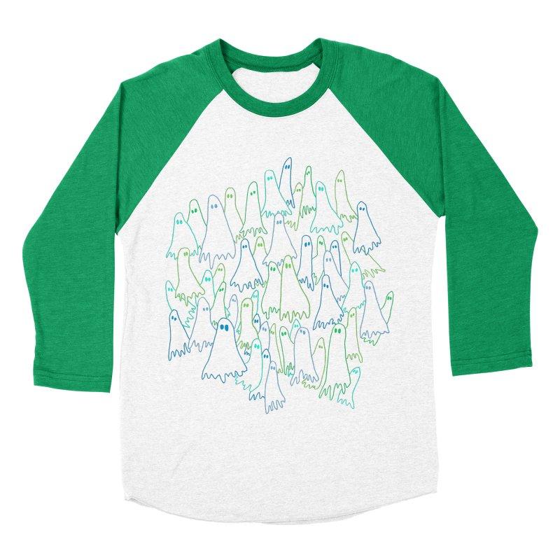 Ghost Medley - Dark Men's Baseball Triblend Longsleeve T-Shirt by jeffisawesome's Artist Shop
