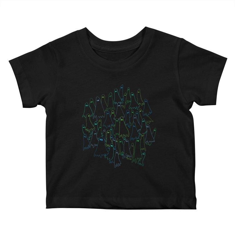Ghost Medley - Dark Kids Baby T-Shirt by jeffisawesome's Artist Shop