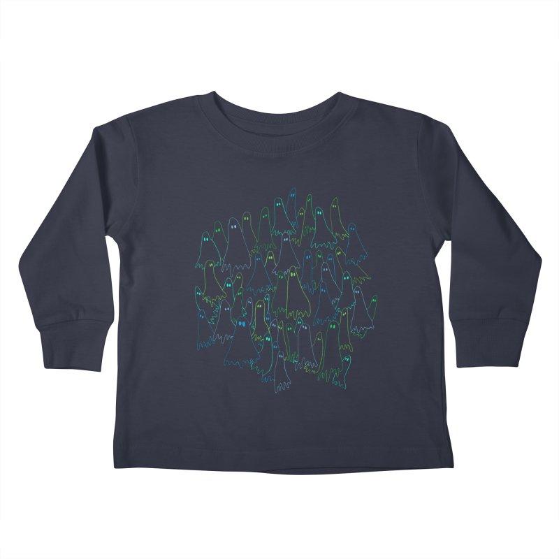 Ghost Medley - Dark Kids Toddler Longsleeve T-Shirt by jeffisawesome's Artist Shop