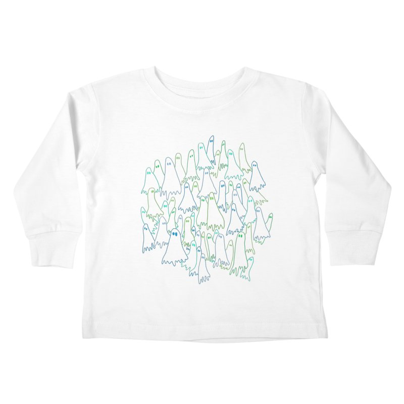 Ghost Medley - Dark Kids Toddler Longsleeve T-Shirt by jeffisawesome's Artist Shop
