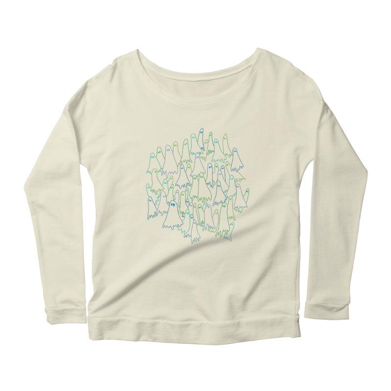 Ghost Medley - Dark Women's Scoop Neck Longsleeve T-Shirt by jeffisawesome's Artist Shop