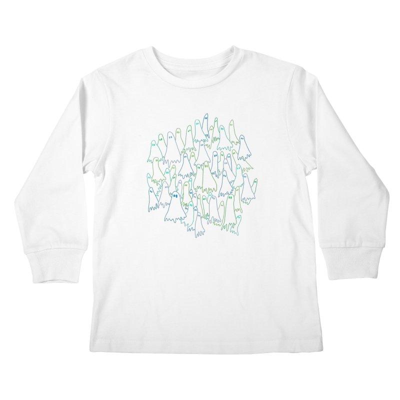 Ghost Medley - Dark Kids Longsleeve T-Shirt by jeffisawesome's Artist Shop