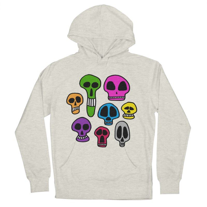 Color Skulls Women's French Terry Pullover Hoody by jeffisawesome's Artist Shop
