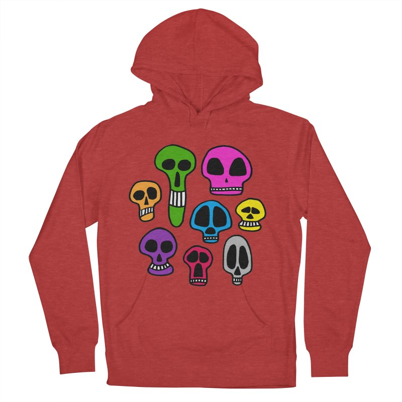 Color Skulls Men's French Terry Pullover Hoody by jeffisawesome's Artist Shop