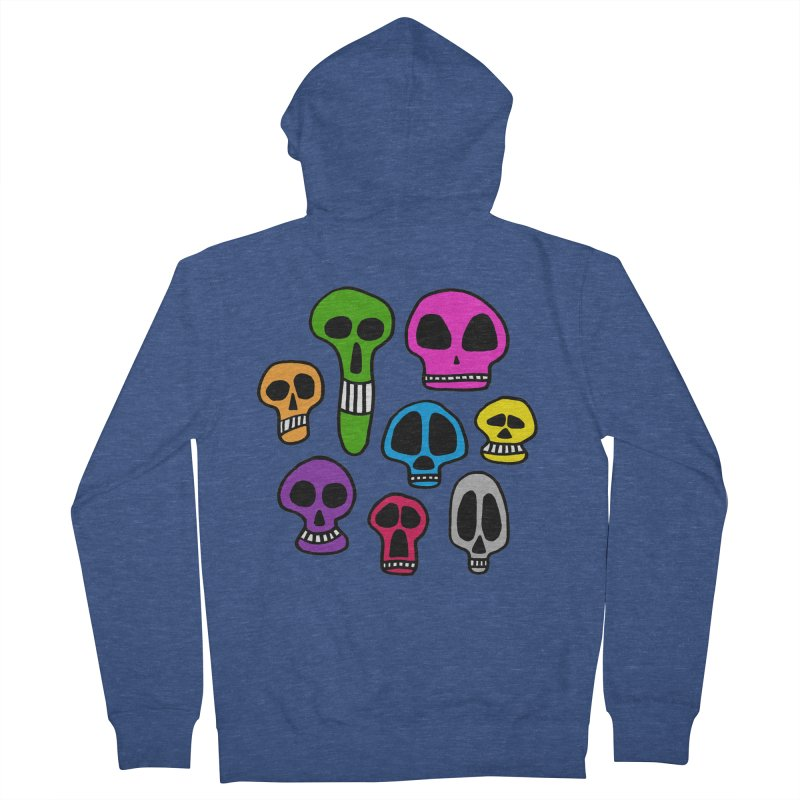 Color Skulls Women's Zip-Up Hoody by jeffisawesome's Artist Shop