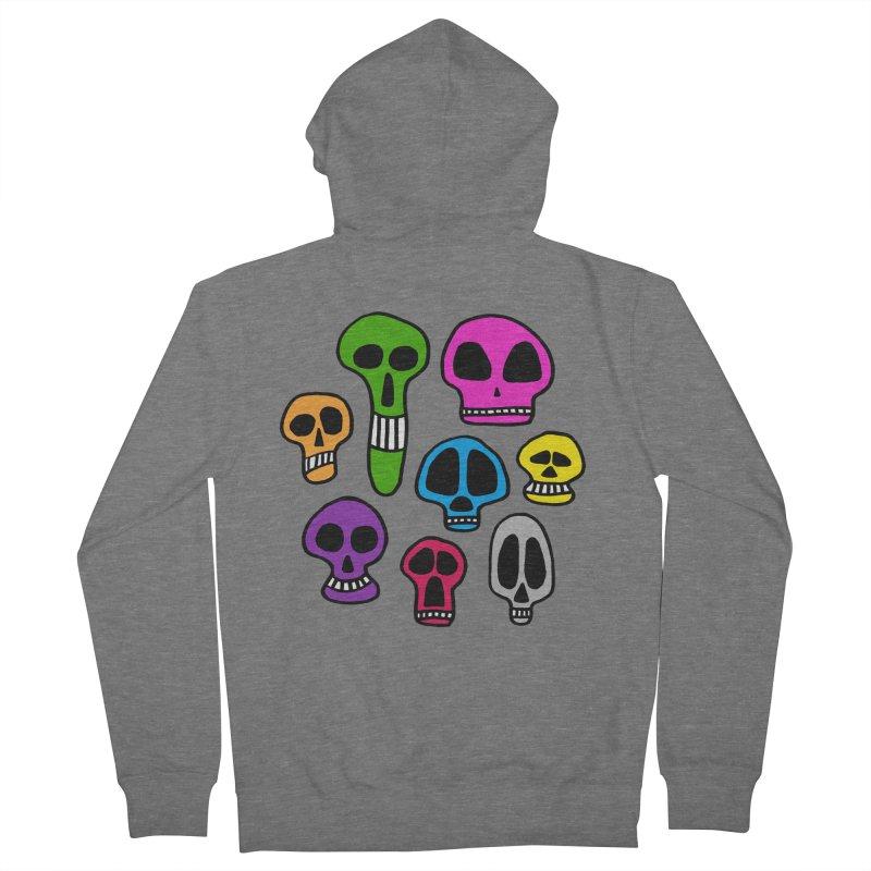 Color Skulls Women's Zip-Up Hoody by jeffisawesome's Artist Shop