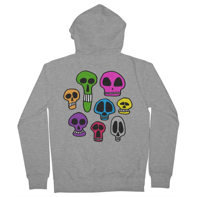 Color Skulls Women's French Terry Zip-Up Hoody by jeffisawesome's Artist Shop