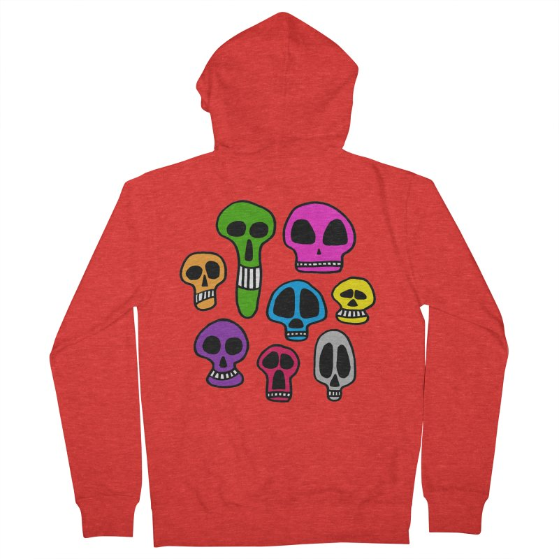 Color Skulls Men's Zip-Up Hoody by jeffisawesome's Artist Shop