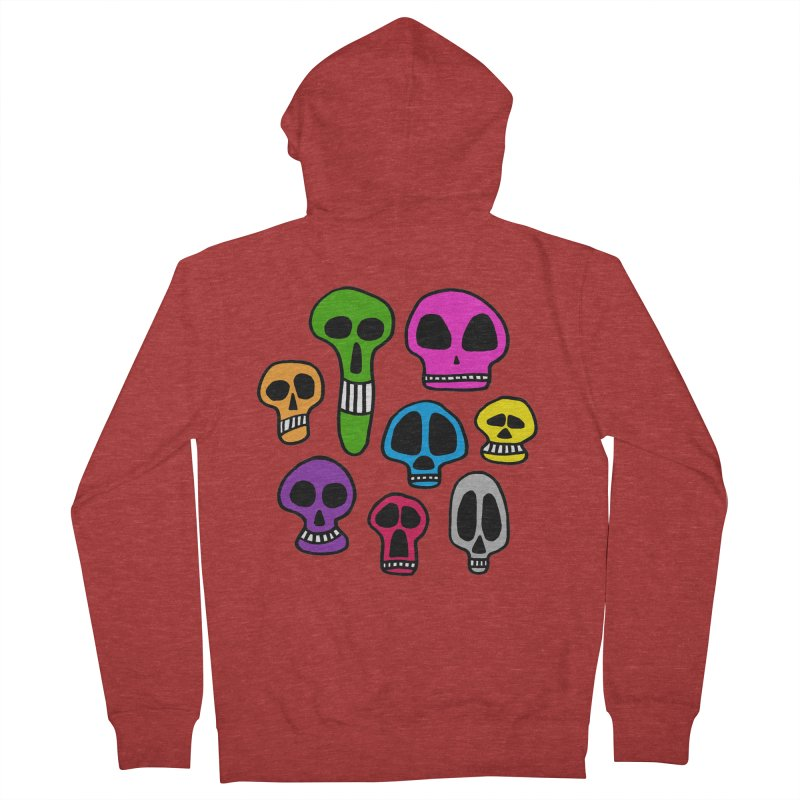 Color Skulls Men's French Terry Zip-Up Hoody by jeffisawesome's Artist Shop