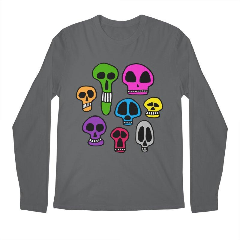 Color Skulls Men's Longsleeve T-Shirt by jeffisawesome's Artist Shop