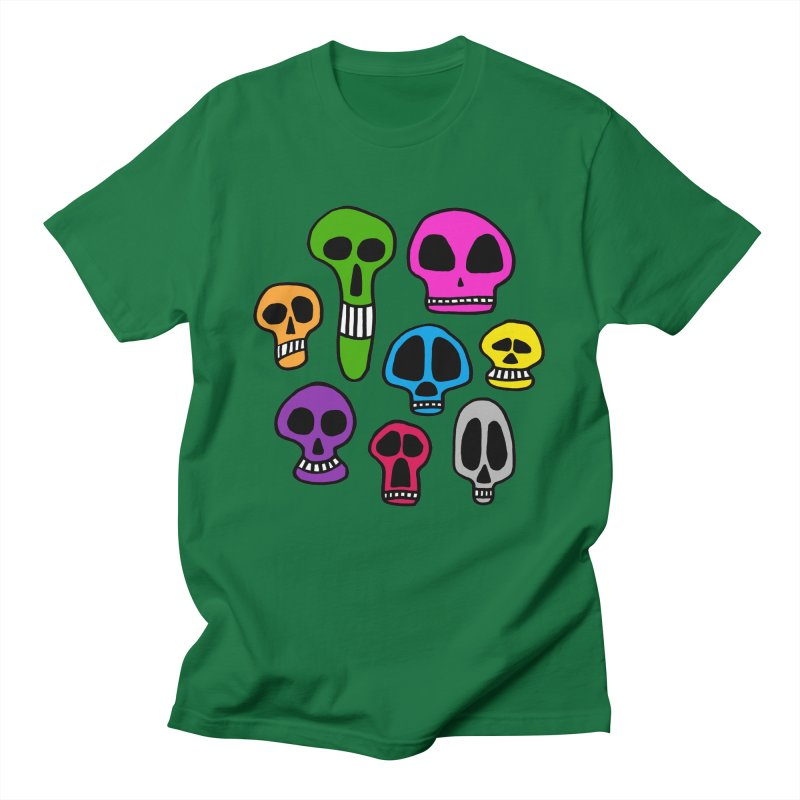 Color Skulls Men's T-Shirt by jeffisawesome's Artist Shop