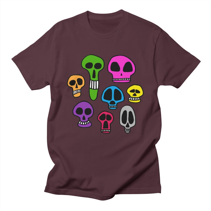 Color Skulls Men's T-Shirt by jeffisawesome's Artist Shop