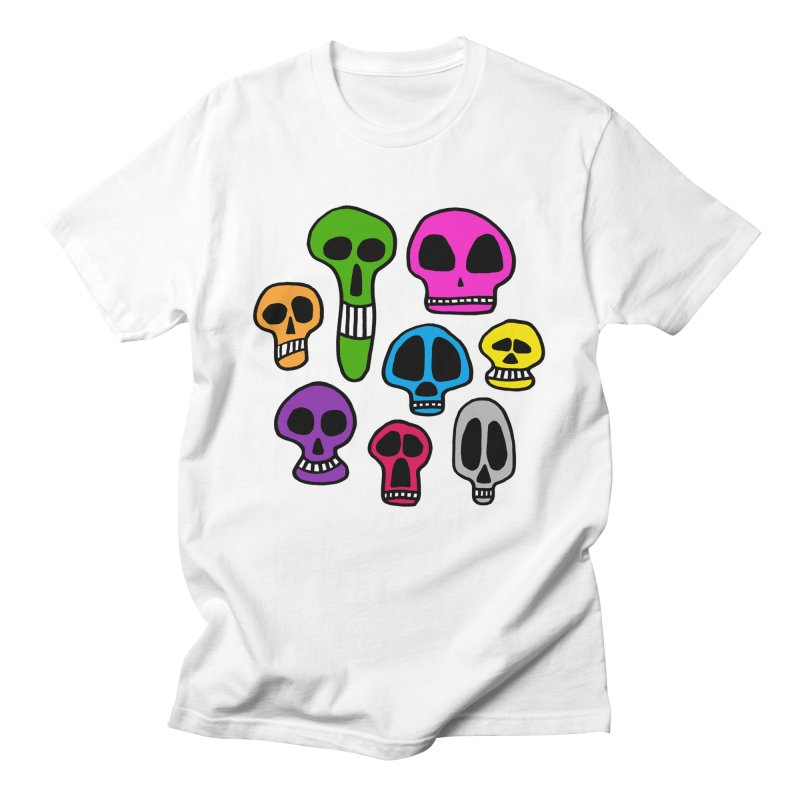 Color Skulls Men's Regular T-Shirt by jeffisawesome's Artist Shop