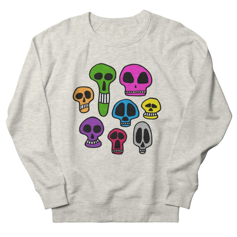 Color Skulls Women's French Terry Sweatshirt by jeffisawesome's Artist Shop