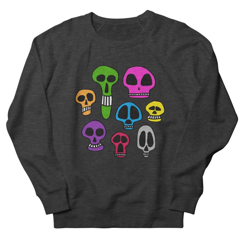 Color Skulls Men's French Terry Sweatshirt by jeffisawesome's Artist Shop