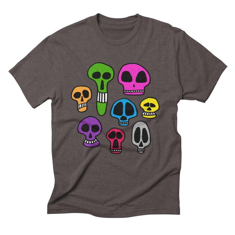 Color Skulls Men's Triblend T-Shirt by jeffisawesome's Artist Shop
