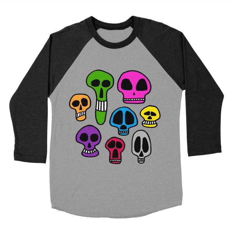Color Skulls Women's Baseball Triblend Longsleeve T-Shirt by jeffisawesome's Artist Shop