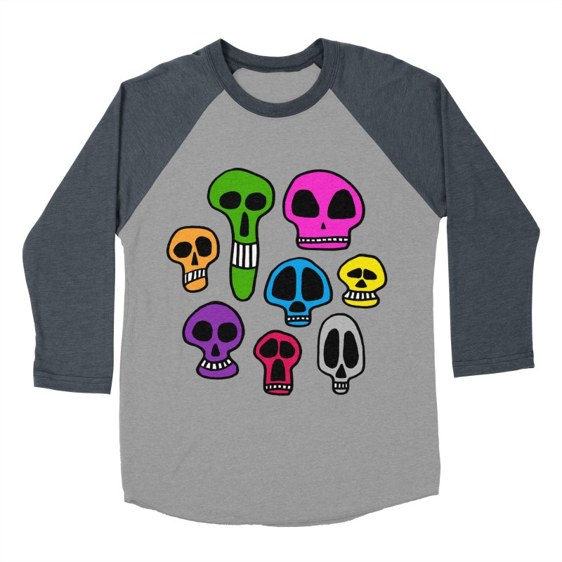 Color Skulls Women's Baseball Triblend Longsleeve T-Shirt by jeffisawesome's Artist Shop