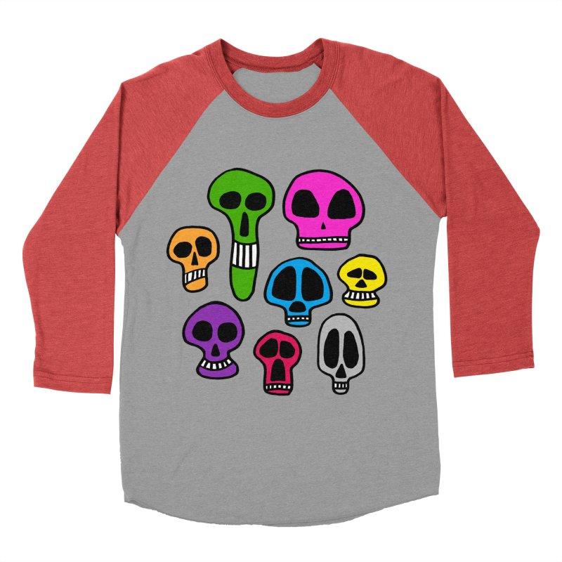 Color Skulls Men's Baseball Triblend Longsleeve T-Shirt by jeffisawesome's Artist Shop