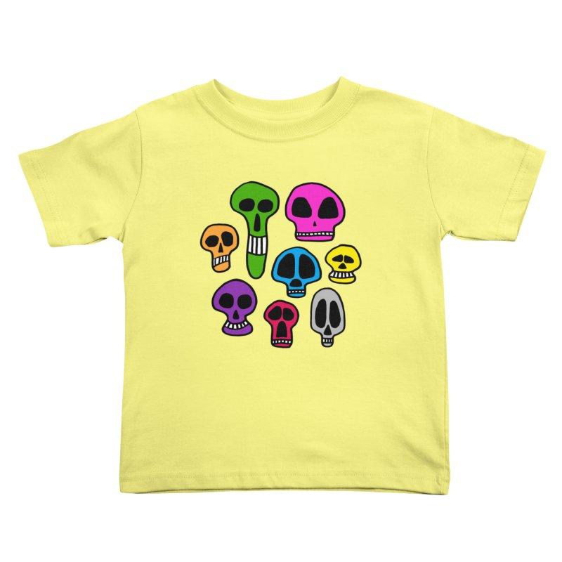Color Skulls Kids Toddler T-Shirt by jeffisawesome's Artist Shop