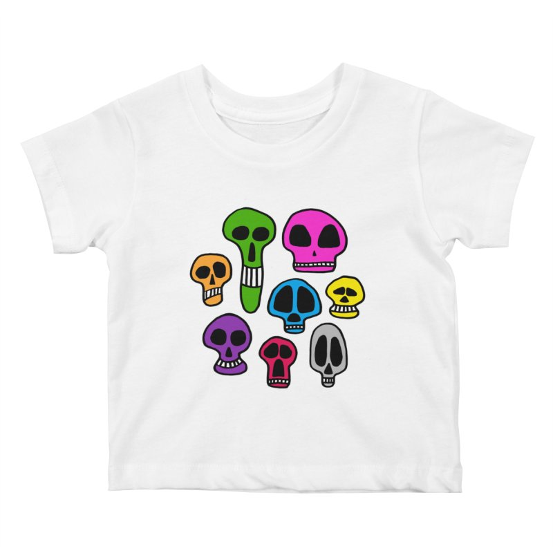 Color Skulls Kids Baby T-Shirt by jeffisawesome's Artist Shop