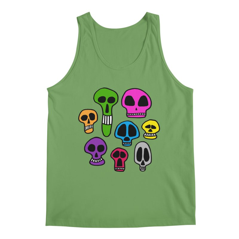 Color Skulls Men's Tank by jeffisawesome's Artist Shop