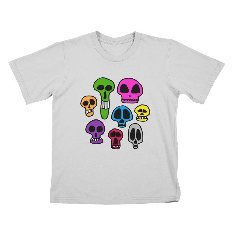 Color Skulls Kids T-Shirt by jeffisawesome's Artist Shop